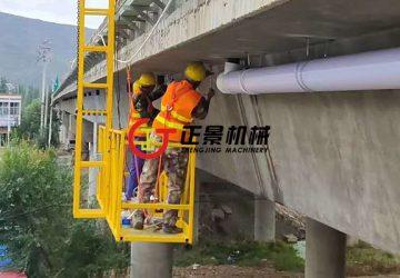 甘肃天水连霍高速公路桥梁雨水管安装