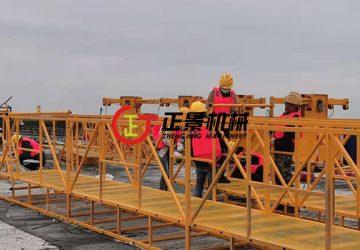 北海西港村跨海大桥桥底检修