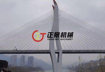 铜仁乌江三桥检查车轨道安装